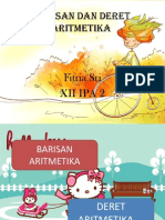 Barisan Dan Deret Aritmetika, FITRIA SRI