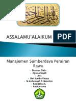 Power Point Manajemen Sumberdaya Perairan Rawa