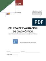 Prueba Evaluación Diagnóstica CLLC  2º ESO 08_09