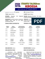 Itxartu Krosaren Oinarrizko informazioa Información básica del Cross Itxartu