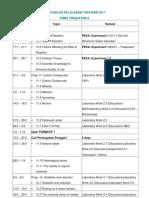 Rancangan Pelajaran Tahunan 2011 Kimia Tingkatan 5