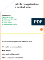 MiCrocontroller application in medical areas