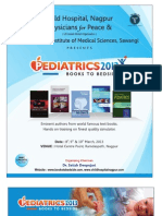 "Brochure of ""Pediatrics 2013"