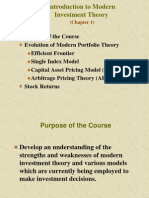 Intro to Investment Theory