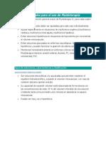 Normas Generales para el uso de Fluidoterapia