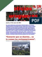 Noticias Uruguayas martes 15 de enero del 2013