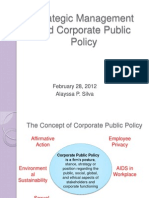 Strategic Management and Corporate Public Policy