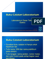 Buku Catatan Laboratorium