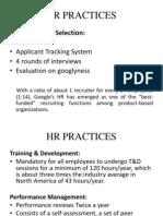 HR Practices google
