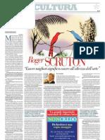 Intervista a Roger Scruton Sui Criteri Per Valutare - Repubblica 15.01.2013