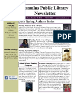 Romulus Public Library Newsletter Winter Spring 2013