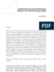 Factors predicting the perceived effectiveness of politicians' use of humor during a debate