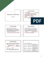 APA format slides