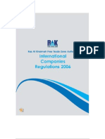 Ras Al Khaimah(RAK) International Companies Regulations 2006