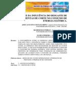ANÁLISE DA INFLUÊNCIA DO DESGASTE DE FERRAMENTAS DE CORTE NO CONSUMO DE ENERGIA ELÉTRICA.