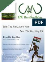 CMC Marathon Republic Day Run 2013 Poster