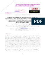 INVESTIGATION THOUGHT DECISION-MAKING TRIAL AND  EVALUATION LABORATORY (DEMATEL) IN GREEN SUPPLY CHAIN  MANAGEMENT INCLUDE REDUCING AND RECYCLING  PHARMACEUTICAL WASTE FOR A PHARMACEUTICAL  MANUFACTURER IN INDIA
