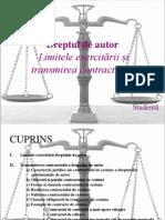 Limitele Exercitarii Dreptului de Autor