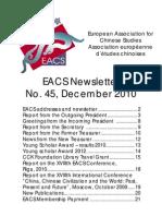 EACS Newsletter 45.