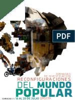 Programa Jornadas de Investigación Reconfiguraciones del Mundo Popular