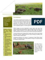 Nutrient Management in Pastured Swine Operations
