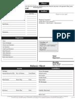 Cashflow sheet