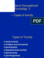 Toxicity - Principles if Occupational Toxicology