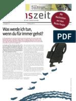 lebenszeit - Zeitung für Diskurs & Ethik am Lebensende - Ausgabe #1 - Was werde ich tun, wenn du für immer gehst?