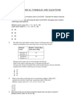 Topic 3 Chemical Formulae and Equation