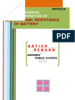 Internal Resistance of Battery