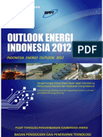 Energy Outlook Indonesia 2012