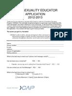 Peer Ed Application