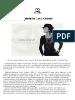 Totul despre Gabrielle Coco Chanel