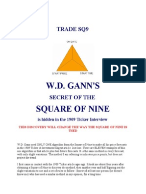 Gann Square of 9 Method | Forecasting | Prediction