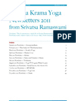Vinyasa Krama Yoga Newsletters 2011