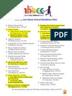New Haven School Readiness Sites