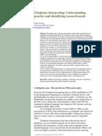Telephone Interpreting_Understanding Practice and Identifying Research Needs