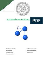 Alotropía del oxígeno. Ozono