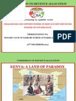 CRA presentation to Rotarians
