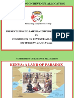 Presentation on Functions of CRA, National and County Governments