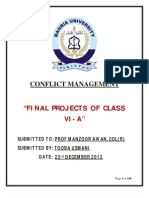 Fall 2012-Bahria UUniversity-BBA VI A-Conflict Management Projects-Compilation-Prof Manzoor Iqbal Awan-15 January 2013