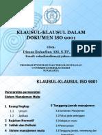 Klausul Klausul ISO 9001