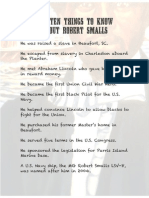 Top Ten Things to know about Robert Smalls
