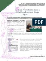 Elaboración de Proyectos Sociales a Través de la Metodología de Marco Lógico
