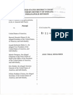 Guthrie v Obama - Complaint/Emergency Petition - Indiana Eligibility Challenge - 1/14/2013