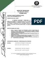 SYLLABUS ..Derecho Financiero