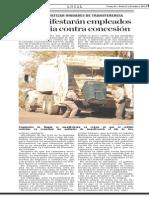 Se manifiestan empleados de limpia contra concesion