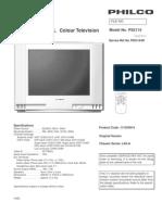 Philco color crt television