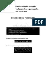 MySQLprocedural