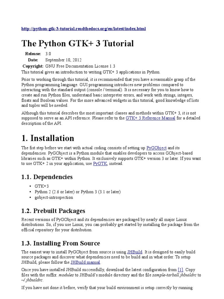 The Python GTK+3 | Widget (Gui) | Button (Computing)
